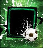Football grunge background. — Stock Vector