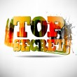 Stock Vector: TOP SECRET Grunge Text