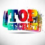 TOP SECRET Grunge Text — Stock Vector #33123483
