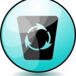 Recycle button — Stock Vector #33124297