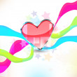Heart background — Image vectorielle