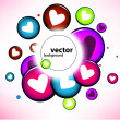 Heart background — Vector de stock
