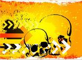 Skull grunge background. — Stock Vector