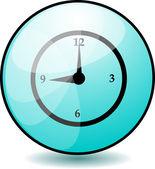 Clock Button — Stock Vector