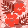 Stock Vector: Seamless Hibiscus flower Background
