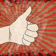 Hand, thumbs up gesture illustration — Imagen vectorial
