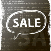 Word sale written with a chalk — Stock Vector