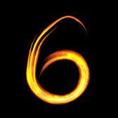 каракули номер шесть — Cтоковый вектор