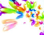 与蝴蝶抽象背景 — 图库矢量图片