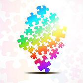 Astratto, composta da pezzi di puzzle — Vettoriale Stock