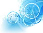 Fondo azul borrosa con círculos — Vector de stock