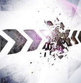 Abstract dark arrow crushing design concept. — Stockvektor
