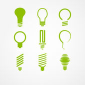 Lightbulb icon set — Stock Vector