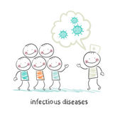 Infectious diseases talks about the infection to humans — Stock Vector
