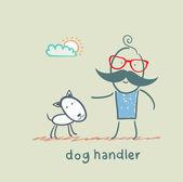 Canine training a dog — Stock Vector