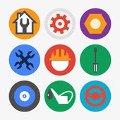 Car maintenance and repair icon set — Cтоковый вектор