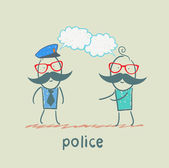 Police listen to people — Stock Vector