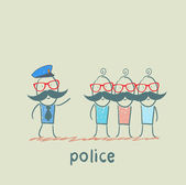 Police said the criminals — Stock Vector