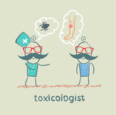 Toxicologist said the poison spider patient — Stock Vector