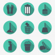 Cleaning icons — Vector de stock #37816235