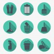 Cleaning icons — Stok Vektör #37816235