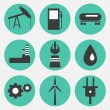 Stock Vector: Energy icons