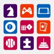 Stock Vector: Games icons