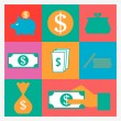 Money icons — Stockvector #37817205