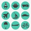 Transportation icons — Stock Vector #37817645