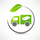 Truck leaf icon — Stock Vector