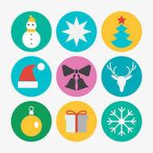 Kerst iconen — Stockvector