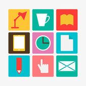 офисные символы — Cтоковый вектор