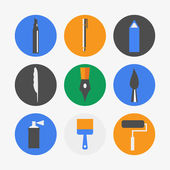 Pen icons — Stockvektor