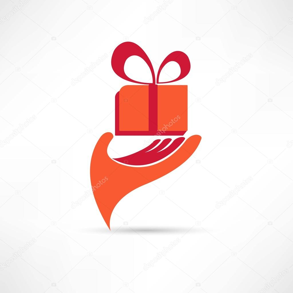 Gift Box Icon Red : Gift in red box icon stock vector ? file