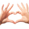 Two human love hands — Stock Photo #39868939