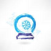 Magic glass bowl grunge icon — Stock Vector