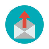 Outgoing messages icon — Vettoriale Stock