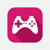 Game joystick icon — Vector de stock