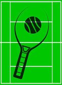 Tennis racket icon — Vettoriale Stock