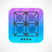 Burners icon — Stock Vector