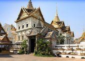 Wspaniały pałac w bangkok, tajlandia — Zdjęcie stockowe