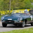 Постер, плакат: Vintage race touring car Jaguar E Type from 1963