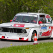 Vintage race touring car BMW 2002 Tii from 1972 — Stok Fotoğraf #12486452