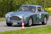 Vintage race touring car Aston Martin DB2 MK III from 1958 — Stock Photo
