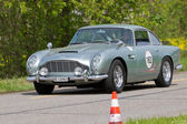 Vintage race touring car Aston Martin DB4 Vantage from 1962 — Stock Photo