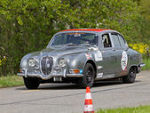 Vintage race touring car Jaguar 3.8 S from 1965 — Stock Photo