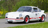 Vintage race touring car Porsche Carrera RS 2.7 from 1973 — Stock Photo