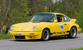 Vintage race touring car Porsche Carrera from 1976 — Stock Photo