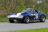 Vintage race touring car Chevrolet Corvette Grand Sport from 1966 — Stock Photo