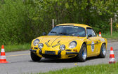 Vintage race touring car Alpine Renault A 110 from 1972 — Stock Photo